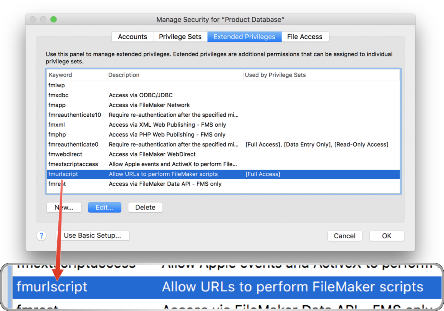 OmniGraffle & FileMaker: fmurlscript